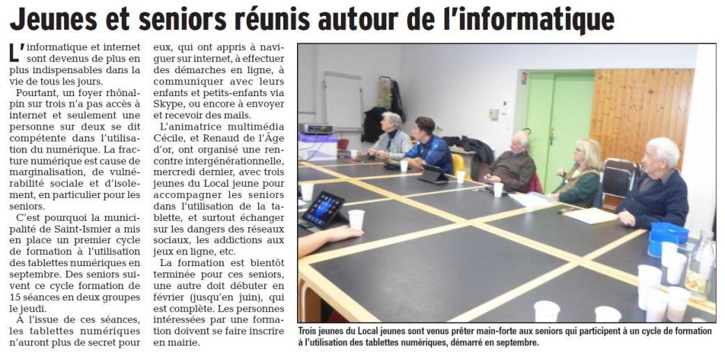 Les rencontres intergenerationnelles de l EHPAD Public Beaumont