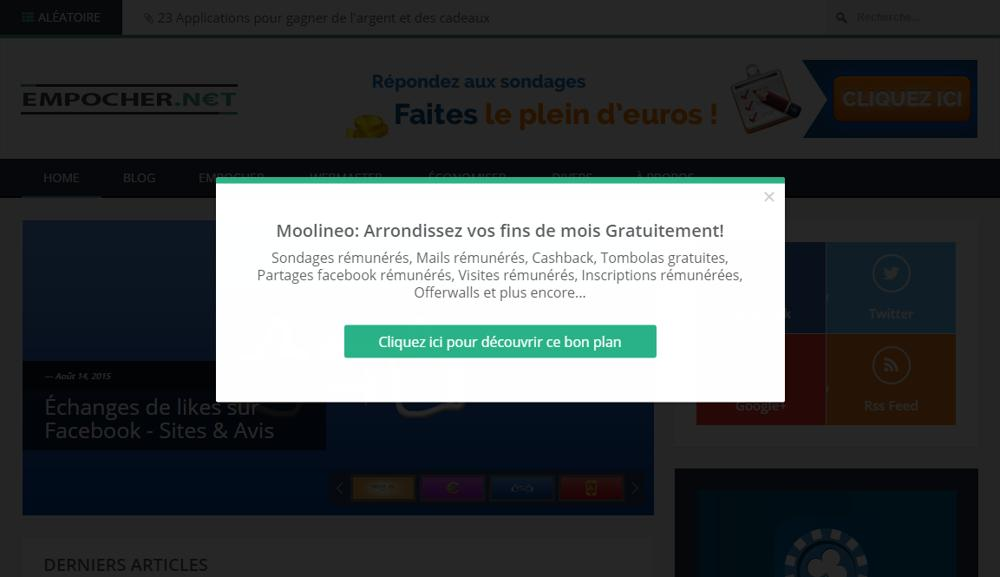 Les pop ups sur internet le blog de l 39 ge dor for Bloquer fenetre pop up chrome